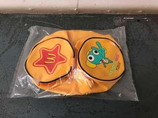 C 563–麥當勞Keroro軍曹$15黃色拉鍊手提袋