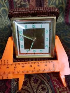 50 60年代 西德 Time Master 旅行摺疊鬧鐘 (時間發條斷了,但已接駁) Vintage Time Mastet Radium Travel Alarm Clock -West Germany