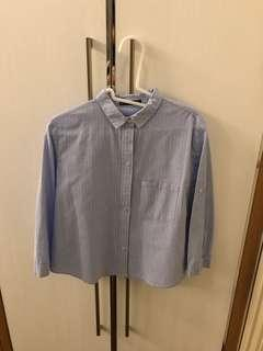 Mango Basics Light Blue Polo Shirt