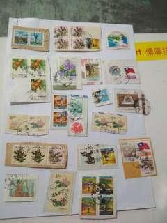 古舊信銷郵票100枚(合售)
