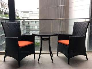 Outdoor Furniture - Table and 2 Chairs