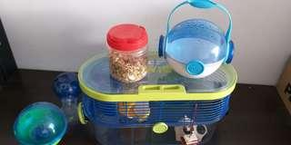 Habittrail Twist hamster cage with accessories