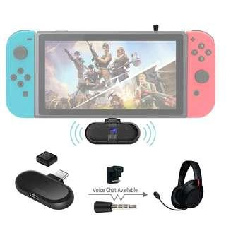 Gulikit Route+ Pro Mini USB C Wireless Audio Adapter Bluetooth Transmitter with U-type Connector Compatible Support in-Game Voice Chat aptX Low Latency for Nintendo Switch