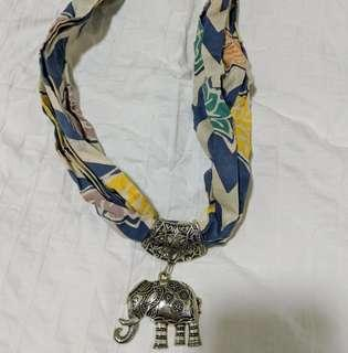 Balinese Necklace with Silver Elephant / Headband