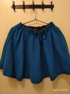 H&M 電藍色及膝裙 包順豐站