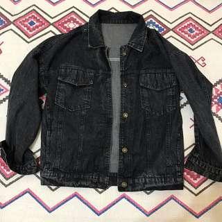 💕💜💕- 鐵灰色牛仔布料外套