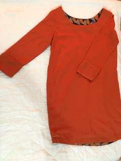 Memo Orange Dress