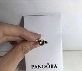 Pandora Citrine & Silver November Birthstone Ring