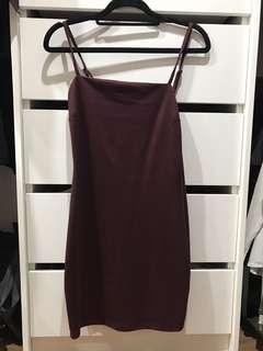 Maroon bodycon mini dress