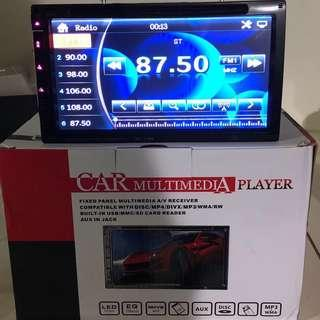 New Car DVD Player - with Radio, Bluetooth, TV, USB/Card, Front & Rear Cam Function