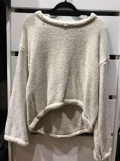 Soft loose fit cream knitwear