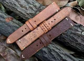 Custom made ammo leather strap