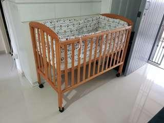 Baby Cot - As good as new.