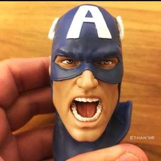 Custom head for XM Captain America