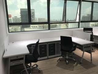 Office table desk L shape modern 1500 x 1500 x 600