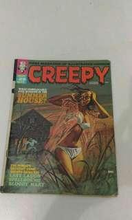 Marvel dc creepy comic