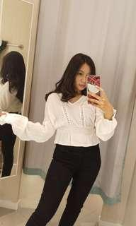 H&M white top new [masih ada label]