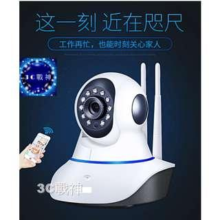3C戰神 室內雙天線wifi網路攝影機/家用無線高清監視器/雲端智能管家/監控器/對講機/監看器/監控攝影機