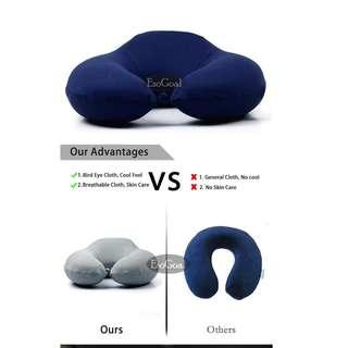 🚚 Neck Support Pillow Travel Memory Foam Pillow - Airplane Pillow, Car, Bus, Train Travel, Rest, Nap, Washable & Durable with Removable Cover