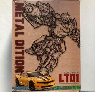 Transformers Legendary Toys - LT-01 LT01 Metal Edition Bumblebee plus One free Autobot Decal Sheet (MISB)
