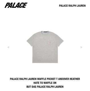 Size S, M Palace Ralph Lauren Waffle tshirt tee grey