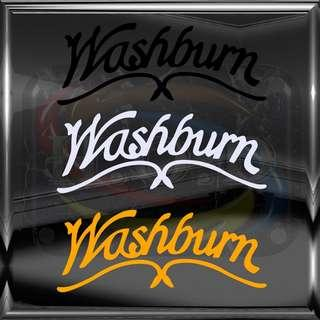 Washburn guitar logo diecut vinyl decal - No Background