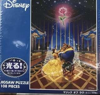 Beauty And The Beast Glow In The Dark Puzzle
