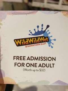 Promo 2 for $28! Wild wild wet tickets (adult)