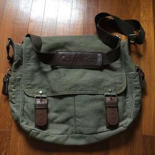 Calvin Klein canvas sling bag