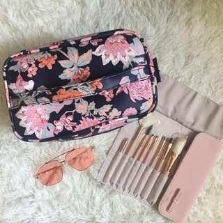 Floral Travel Makeup Bag