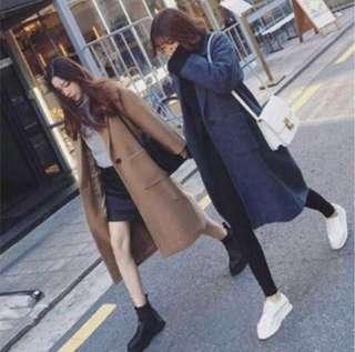🚚 全新棕駝色長版大衣