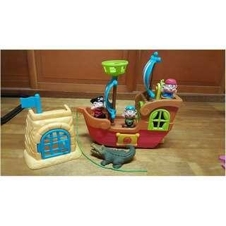 【二手品】9成新海盜船聲光玩具/扮家家酒/幼兒早教