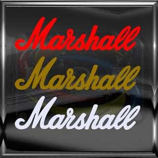 Marshall Amp logo Die-cut Vinyl Decal