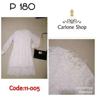 White Lace Dress  (C# 11-005)
