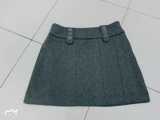 🚚 A字毛尼短裙《M/28-29腰》