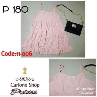 Peach Sleeveless Dress (C# 11-006)