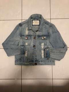 Girlfriend Denim Cropped Jacket