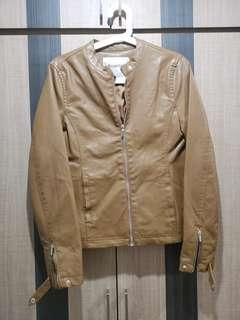 Pull & bear woman faux leather jacket