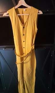 Dark Yellow Jumpsuit