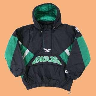 JCI:Vintage Starter NFL 費城 老鷹隊 半拉連帽套頭風衣外套 / 古著 / 90s / 嘻哈 0