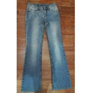 THE GREY Blue Stone Wash Jean Pants