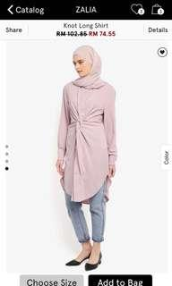 Zalia Knot Long Shirt