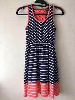 GB Girls 間條連身裙 美國品牌 Dress from Dillard's