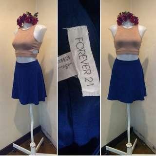 F21 Navy Blue Skirt