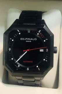 Ed.Pinaud Pvd Black automatic date men watch
