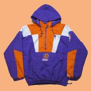 Vintage Starter NBA 太陽隊 Pullover 半拉鍊連帽套頭風衣 / 古著 / 90s / 嘻哈