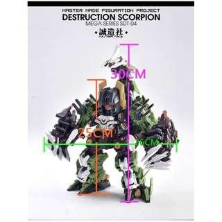 [in hand] Master Made SD Figuration Project SDT-04 Destruction Scorpion (not SD Scorponok)
