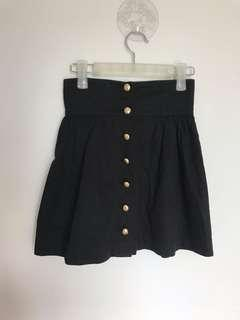 Forever21 Highwasited Gold Buttons Skirt