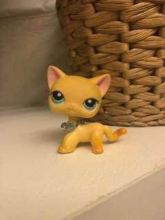 RARE LPS LITTLEST PET SHOP SHORTHAIR YELLOW CAT