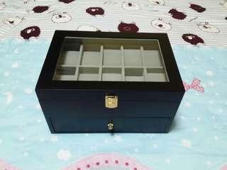 20 Slots Wooden Watch Storage Box